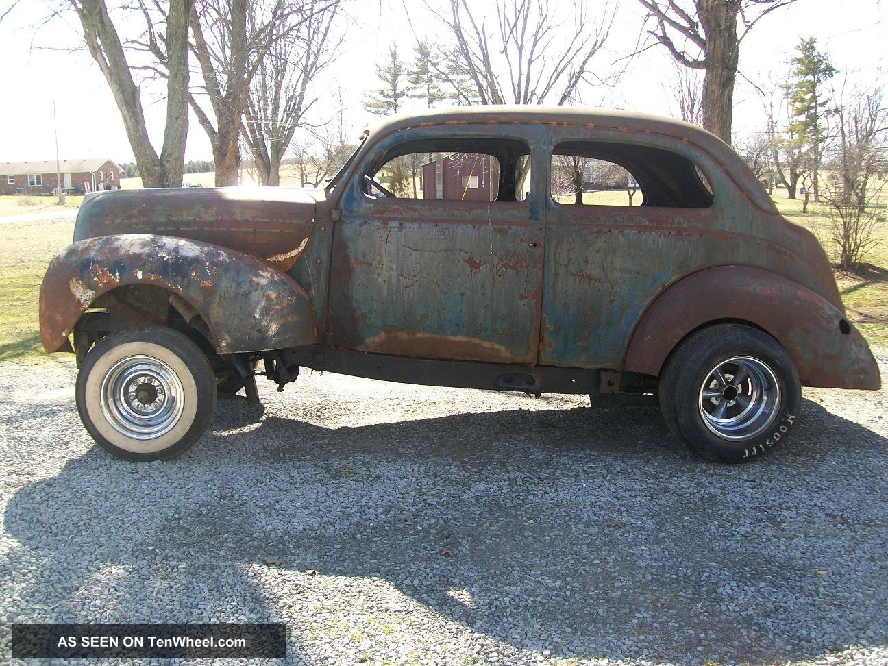 1938 38 Ford Standard 2 Door Sedan Gasser Project 454bbc Rat Rod Project Henry Other photo