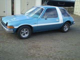1976 Amc Pacer Great Shape 258 Automatic Ac Hot Rod Blue With White Stripe photo