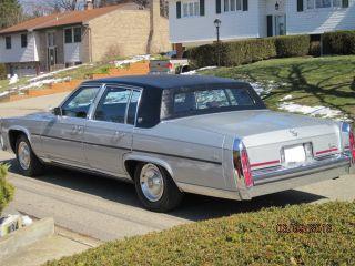 1987 Cadillac Brougham Sedan 4 - Door 5.  0l photo