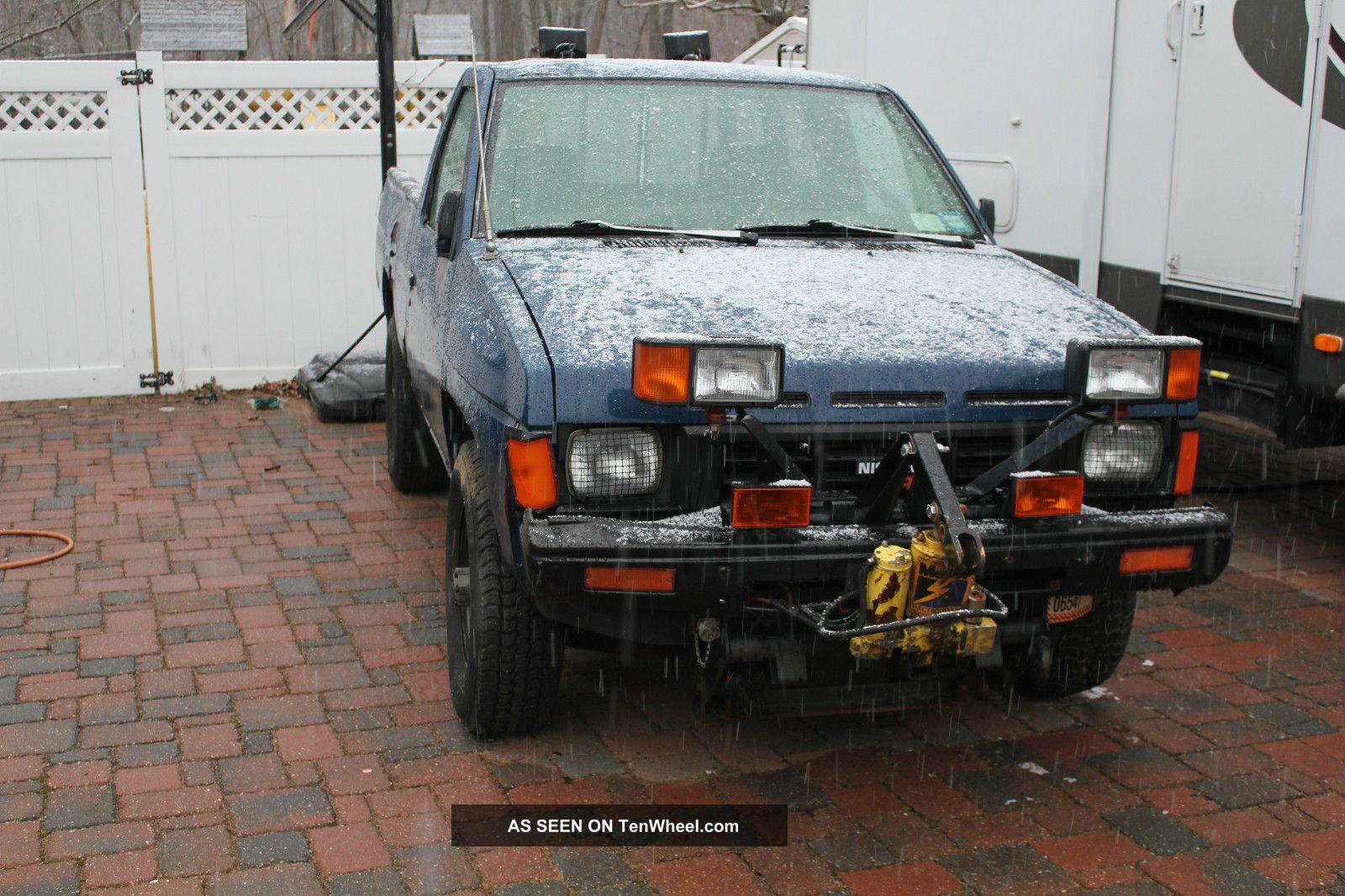 1986 Nissan Pickup Plow 4x4 Hardbody Pick Up 4wd Meyers Snowplow 4 By 4 Needs Other Pickups photo
