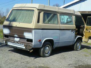 1984 Volkswagen Vanagon Campmobile Van Camper 3 - Door 1.  9l photo