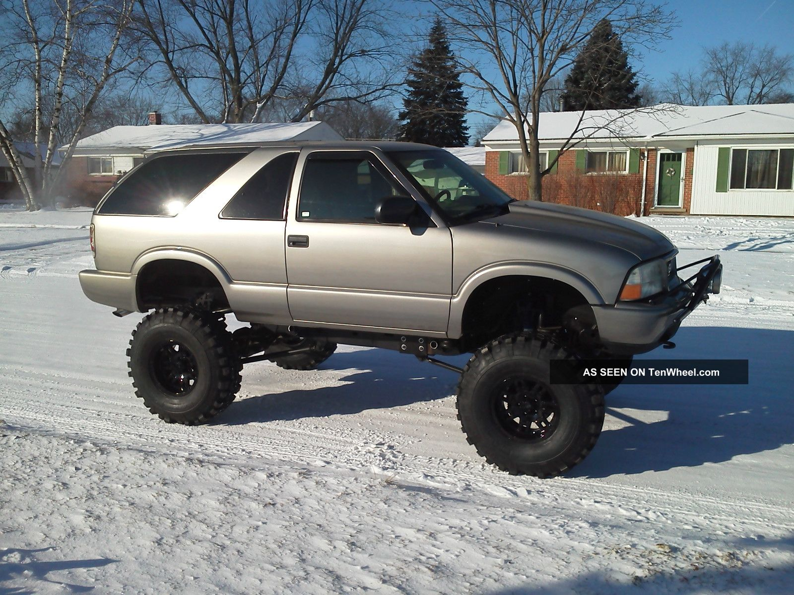 1999 lifted gmc jimmy 4x4 solid axle offroad crawler trail mud truck long arm tenwheel