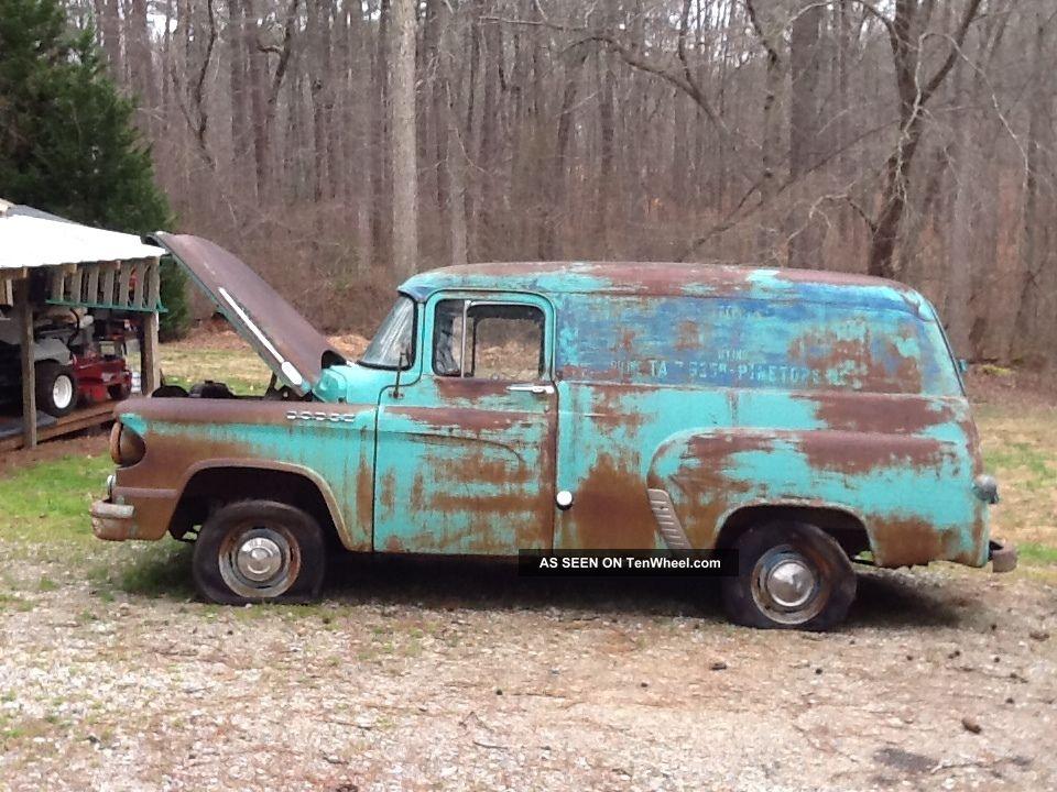 1959 dodge panel van truck pulled out after over 30 years complete. Black Bedroom Furniture Sets. Home Design Ideas