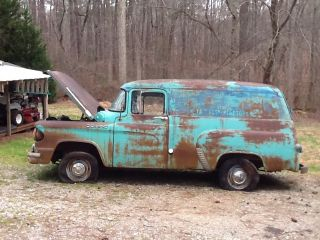 1959 Dodge Panel Van Truck Pulled Out After Over 30 Years Complete photo