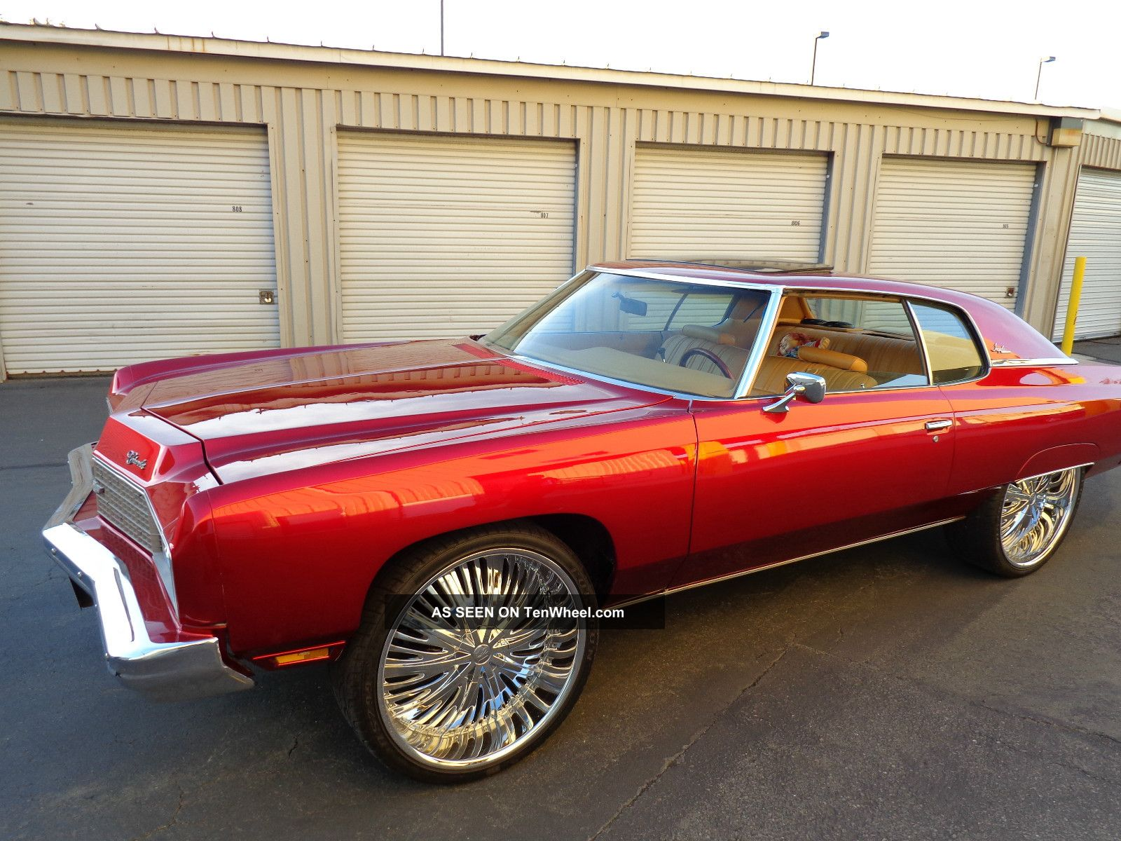 1973 Chevrolet Impala Candy Apple Red Paint Peanut Butter Interior