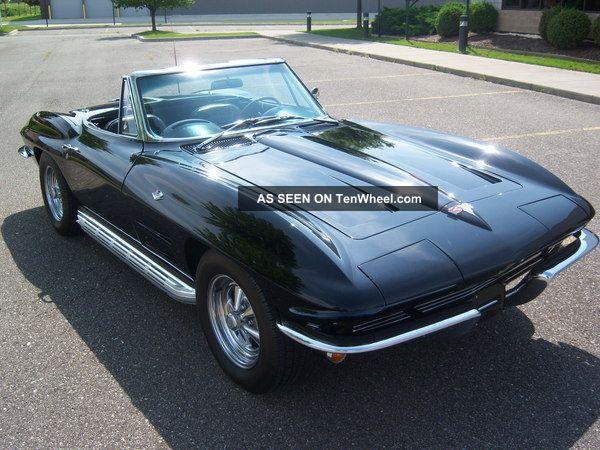 1964 Chevrolet Corvette 327 / 365 Cid 4 Spd Convertible Black / Black Corvette photo