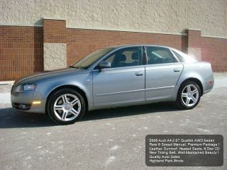 2006 Audi A4 2.  0t Quattro Awd 6 Speed Manual Premium Package photo