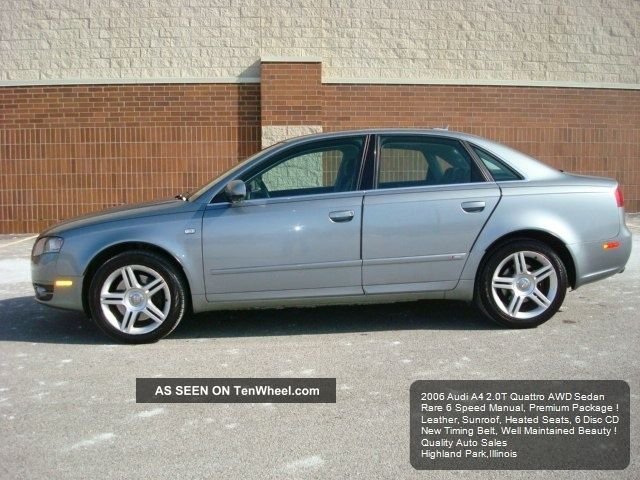 2006 audi a4 2 0t quattro awd 6 speed manual premium package. Black Bedroom Furniture Sets. Home Design Ideas