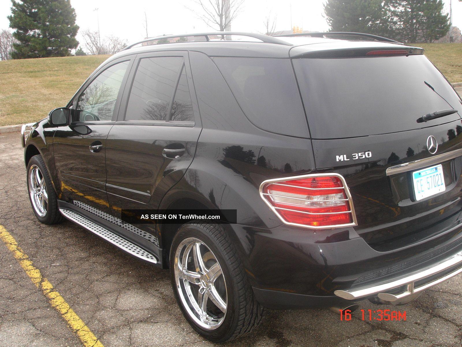 2007 mercedes benz ml350 black suv 4 door 3 5l 20 for Mercedes benz chrome