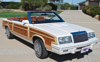 1984 Chrysler Town & Country K Based Convertible California Car 1 Of 1105 photo