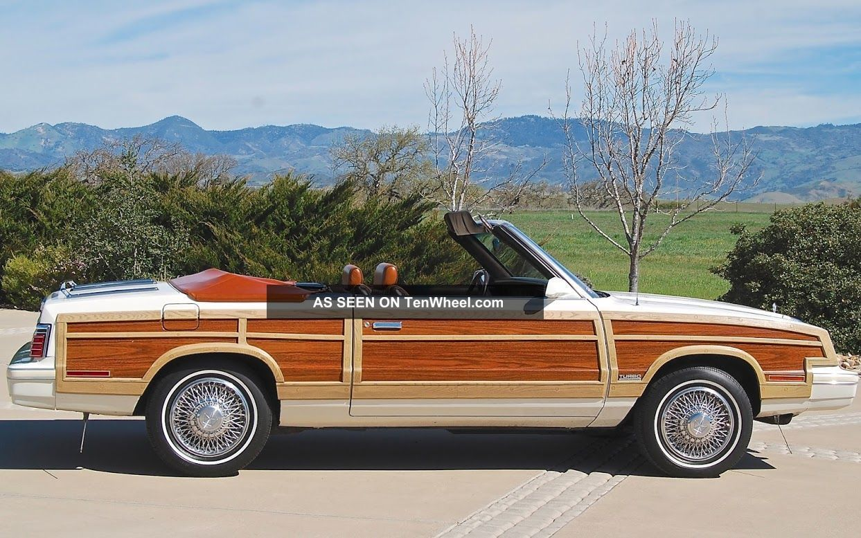 1984 Chrysler Town & Country K Based Convertible California Car 1 Of 1105