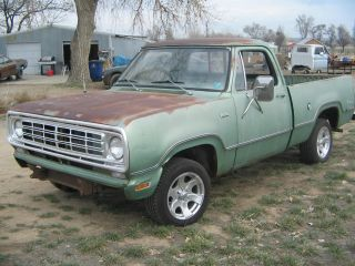 1976 Dodge Shortbed Pickup Project Hotrod Ratrod photo