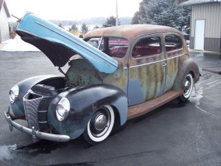 1940 Ford 2 Door Sedan Deluxe Hot Rod Rat Scta photo