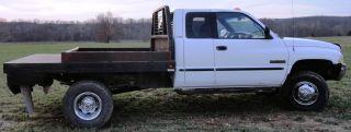 2001 Dodge Ram 3500 4x4 Flatbed Laramie Slt Nr photo