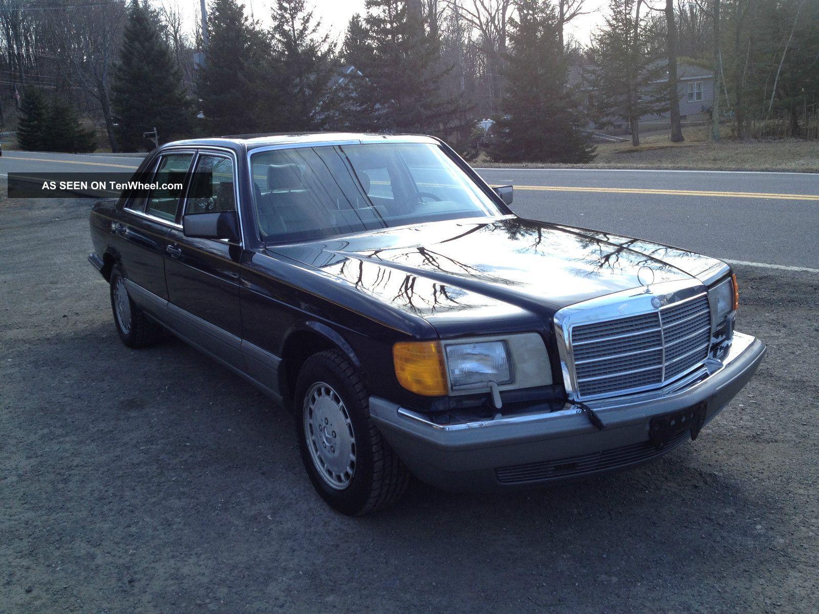 1988 mercedes benz 300 sel s class black