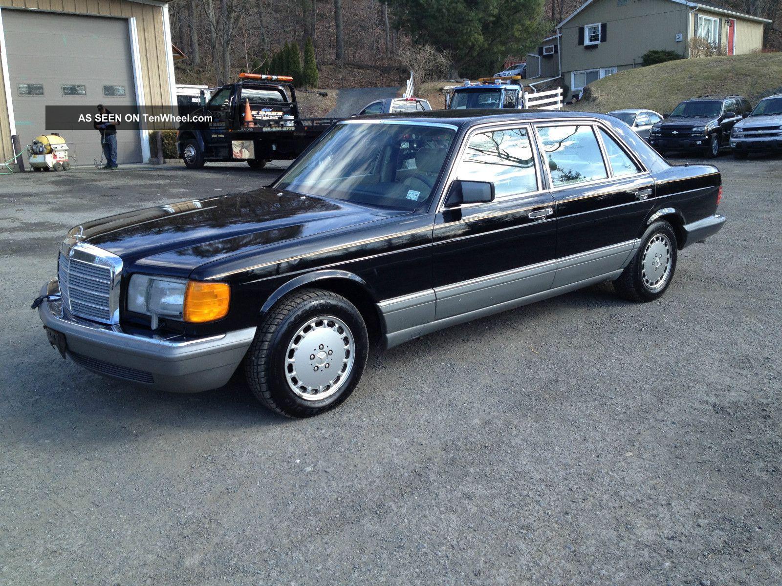 1988 Mercedes Benz 300 Sel S Cl Black on