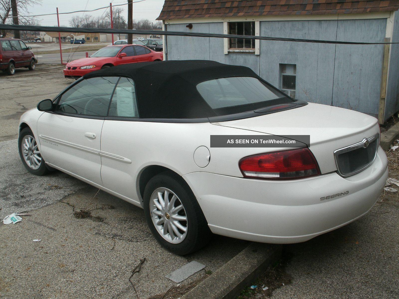 2001 Chrysler Sebring Convertible Lxi