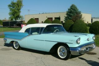1957 Oldsmobile Starfire 98 Convertible - J2 Tri - Power - Two Tone Blue - Loaded photo