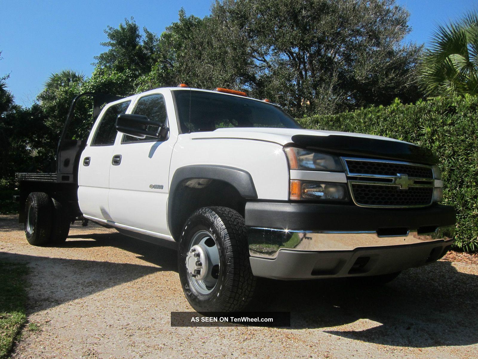 2005 Chevy 3500 Crew Cab 4x4 4wd Flatbed Florida Make Offer Silverado 3500 photo