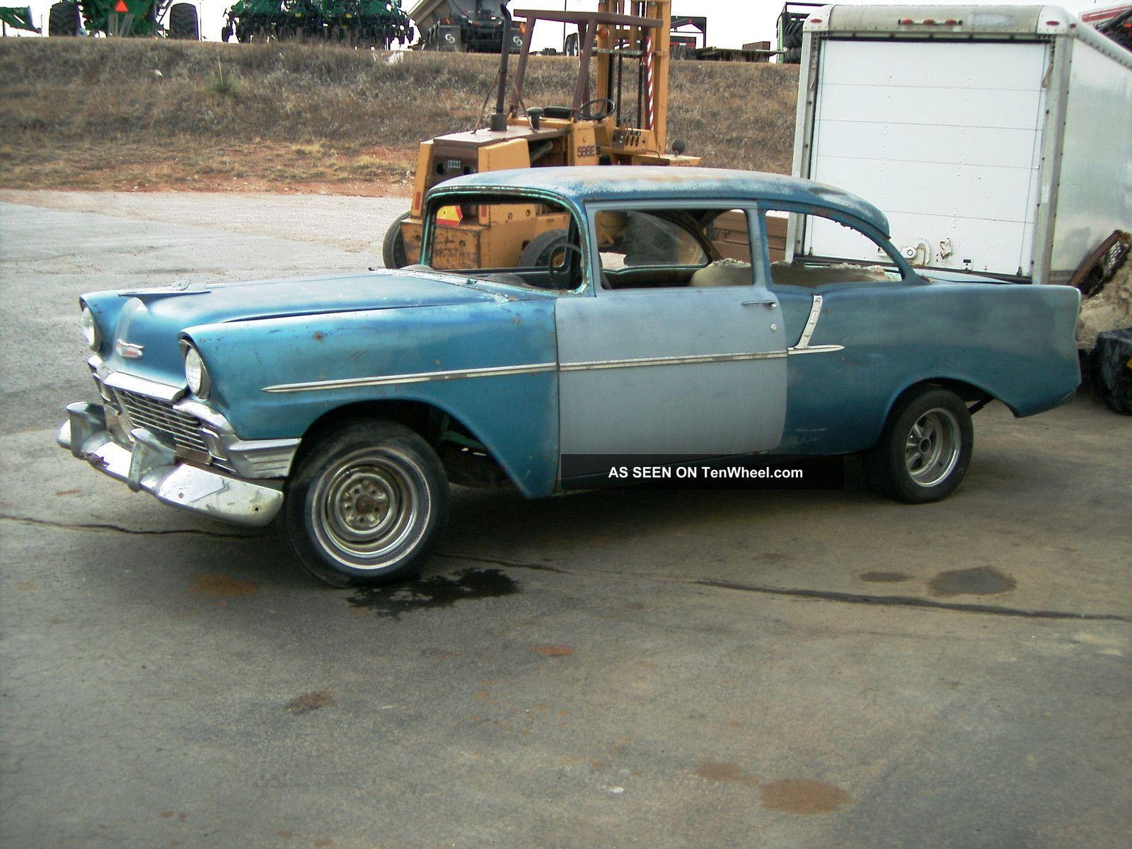 1956 chevrolet 150 2 door sedan 150 4 door sedan 2 cars for 1956 chevy 4 door sedan
