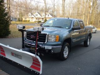 2009 Gmc Sierra 1500 4wd Crew Cab Sle 5.  3l V8 Blizzard Snow Plow photo
