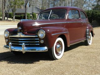 1947 Ford Deluxe Sedan Frame Off Restro Pics photo