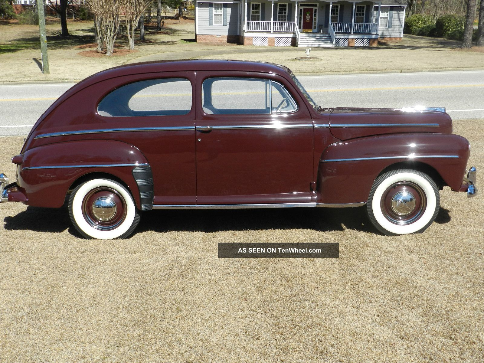 1947 Ford Deluxe Sedan Frame Off Restro Pics