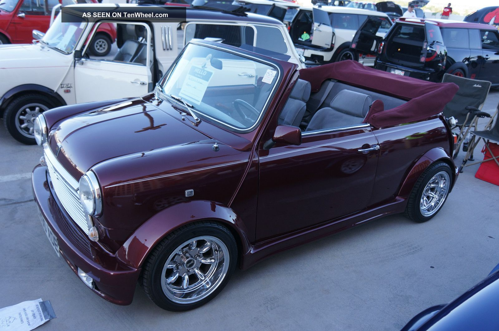 1973 classic mini cooper cabriolet rare 1 of 75 convertible show winner. Black Bedroom Furniture Sets. Home Design Ideas