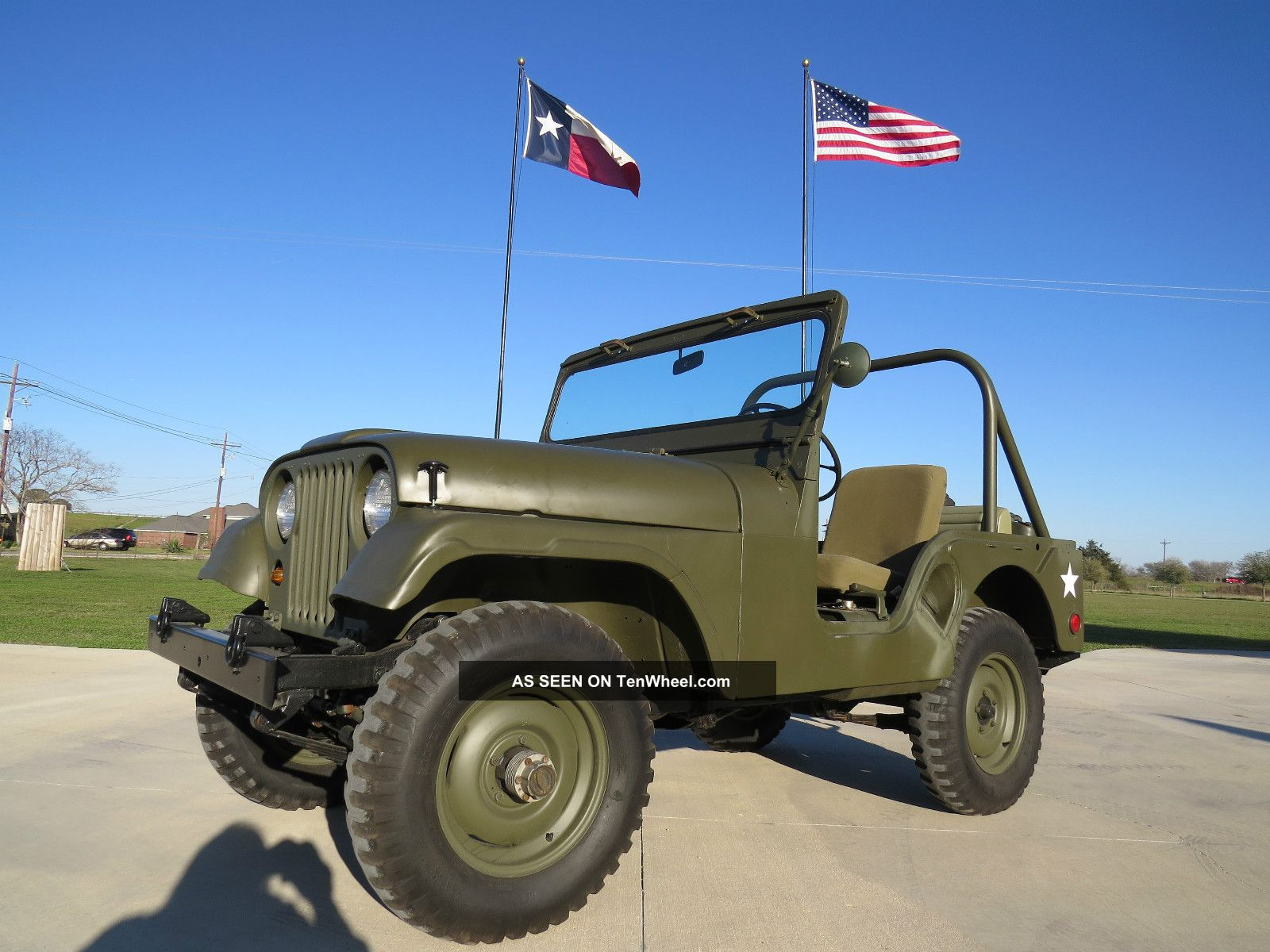 1953 Willys Jeep M38a1 12 Volt Jeep Hurricane Engine