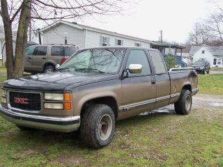 1994 Gmc C1500 Sierra Sl Extended Cab Pickup 2 - Door 5.  7l photo