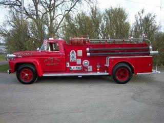 1957 Ford F800 Big Job Seagrave Fire Truck photo