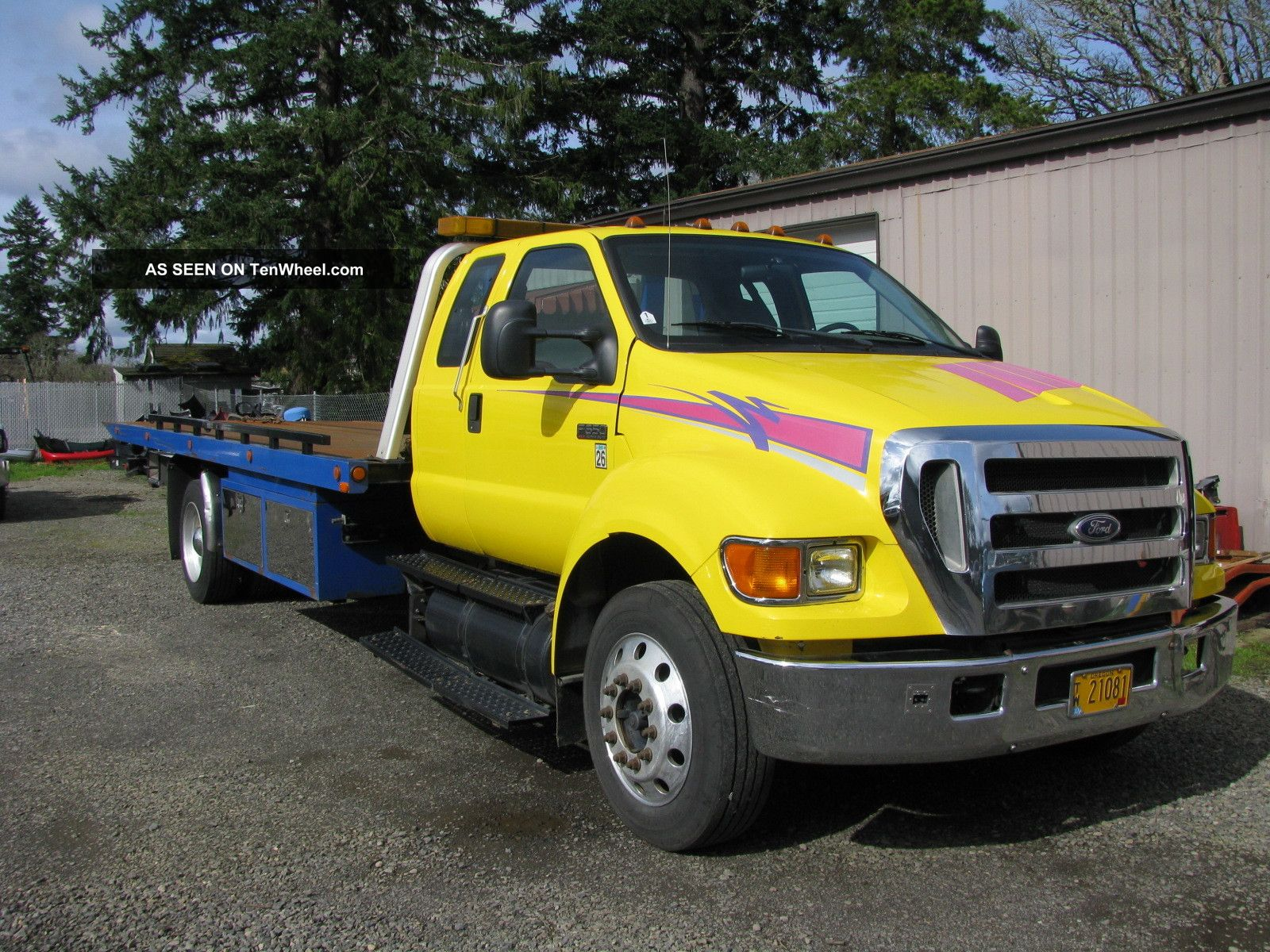 2006 f650 flatbed tow truck. Black Bedroom Furniture Sets. Home Design Ideas