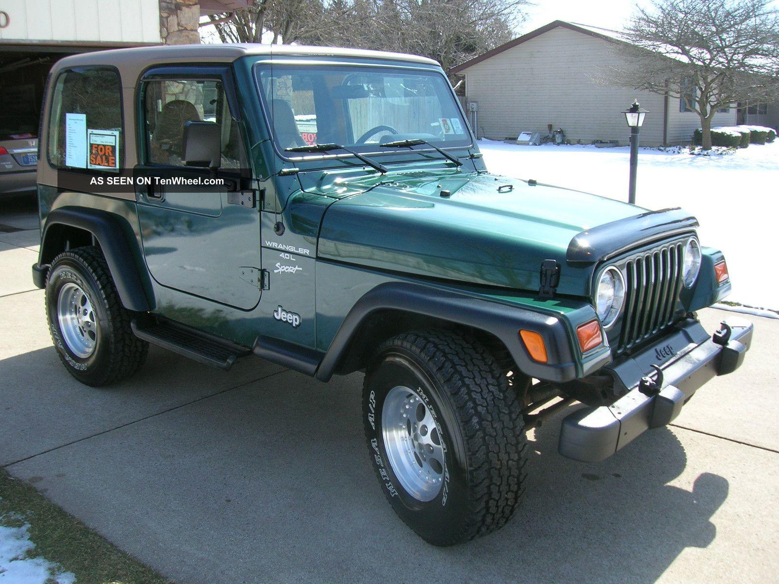 1999 jeep wrangler sport sport utility 2 door 4 0l. Black Bedroom Furniture Sets. Home Design Ideas