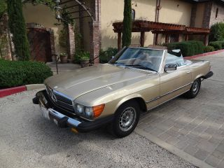 1985 380sl Mercedes Convertible California Car Good Roadster photo