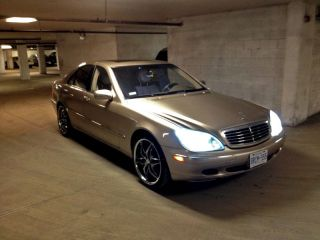 Mercedes,  Benz,  Sclass,  20 Inch Rims,  Beige,  2001,  4 Door,  Great Shape photo