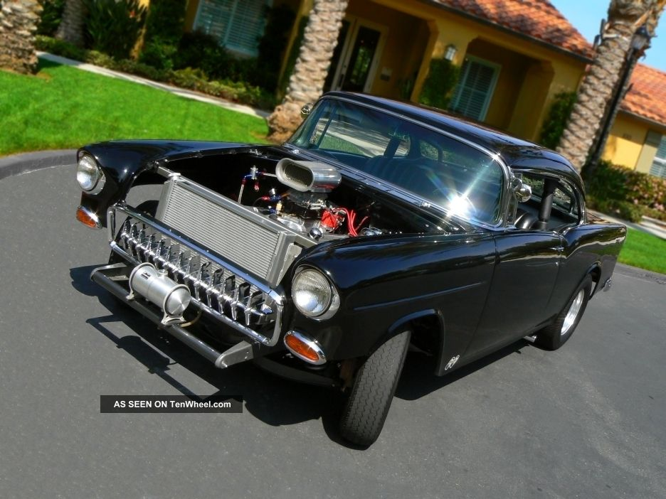 1955 Belair Hardtop Gasser 2 Door American Graffiti Two Lane Black Top Hotrod Bel Air/150/210 photo