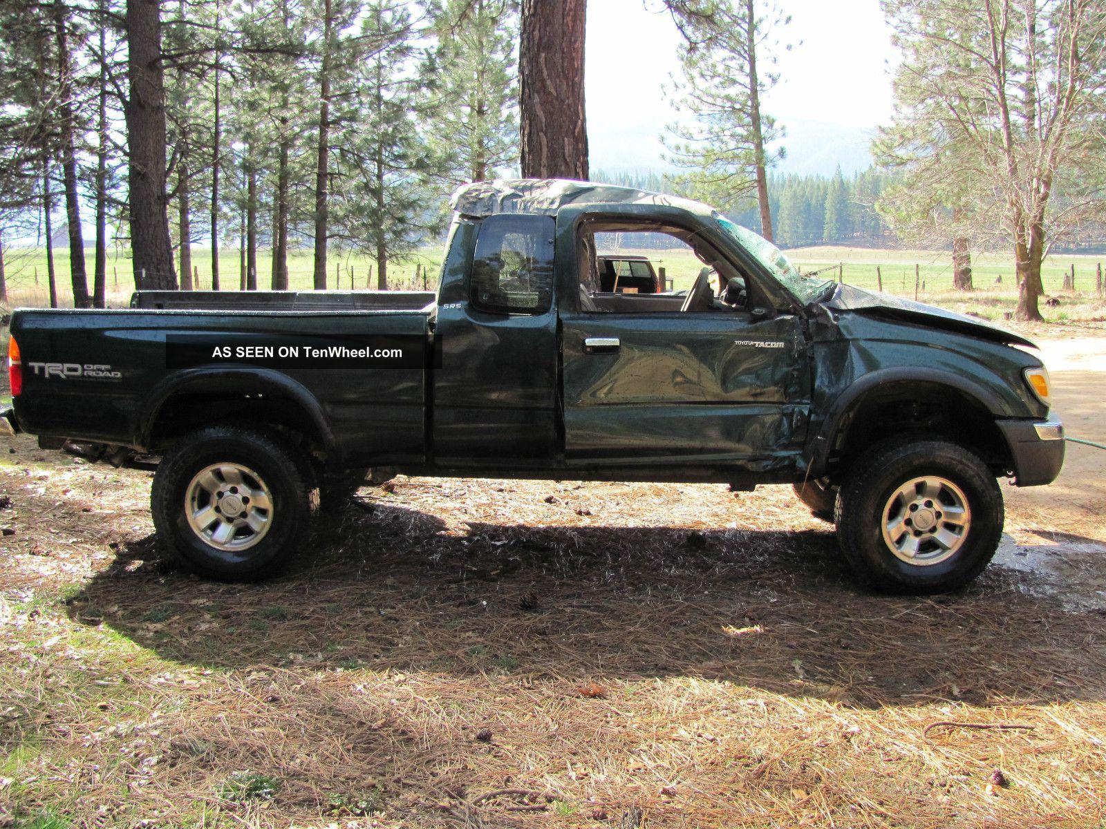 2000 Toyota Tacoma Sr5 Extended Cab Pickup 2 - Door 3.  4l V6 - Totaled Tacoma photo