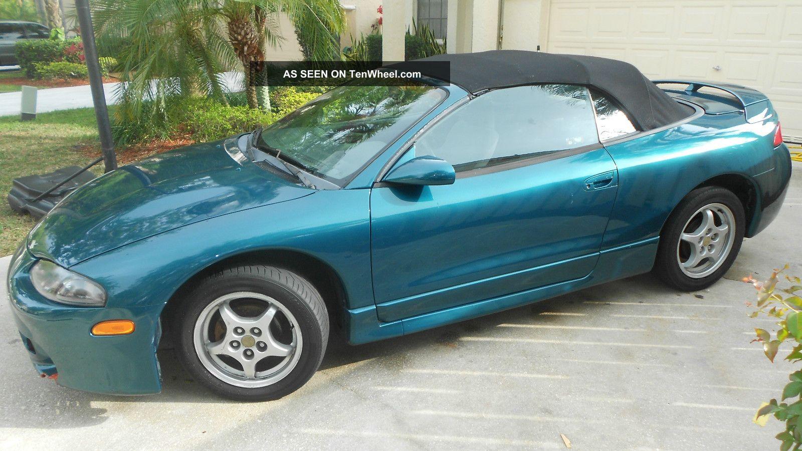 1997 mitsubishi eclipse spyder gs convertible 2 door 2 4l convertible top. Black Bedroom Furniture Sets. Home Design Ideas
