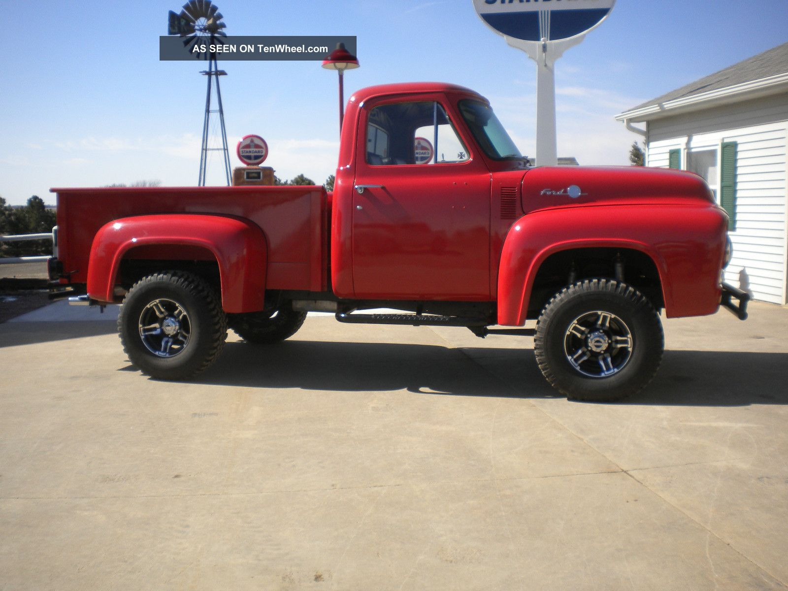 1955 Ford F100 4x4 Custom Truck Hot Rod Rat Lifted Pickup V Eight 400