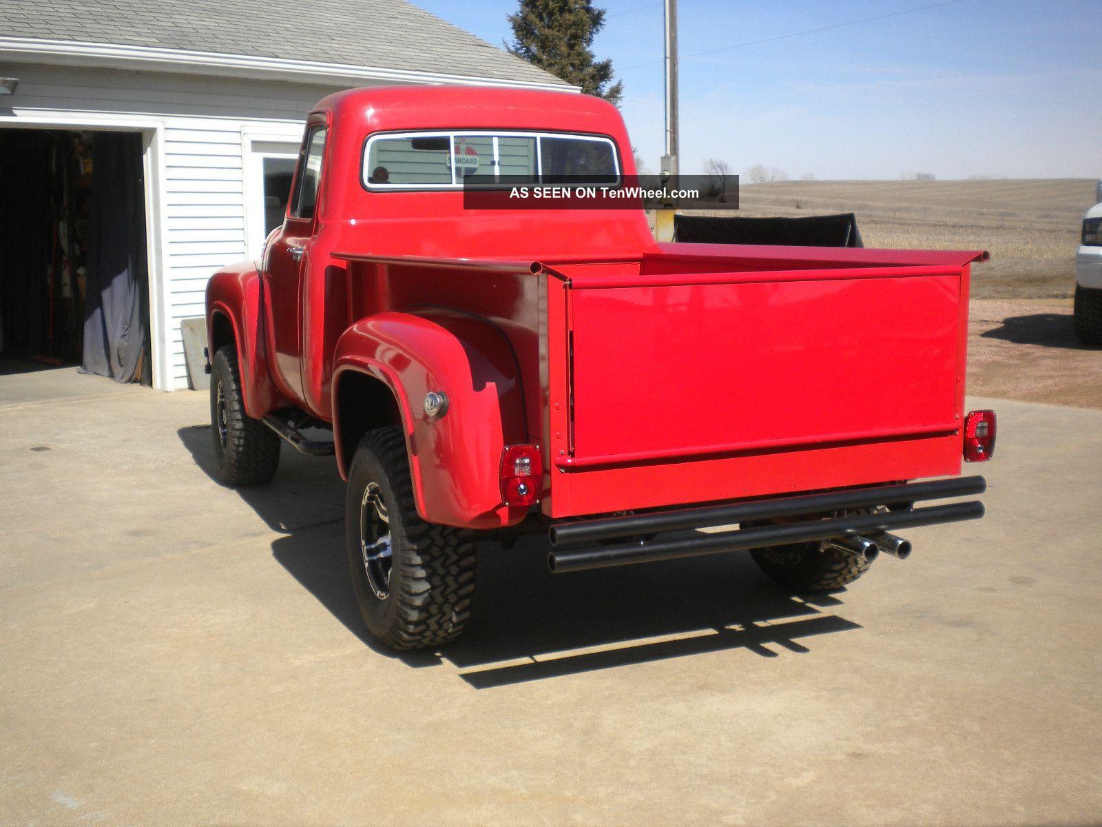 1955 Ford F100 4x4 Custom Truck Hot Rod Rat Lifted Pickup V Trucks Eight 400