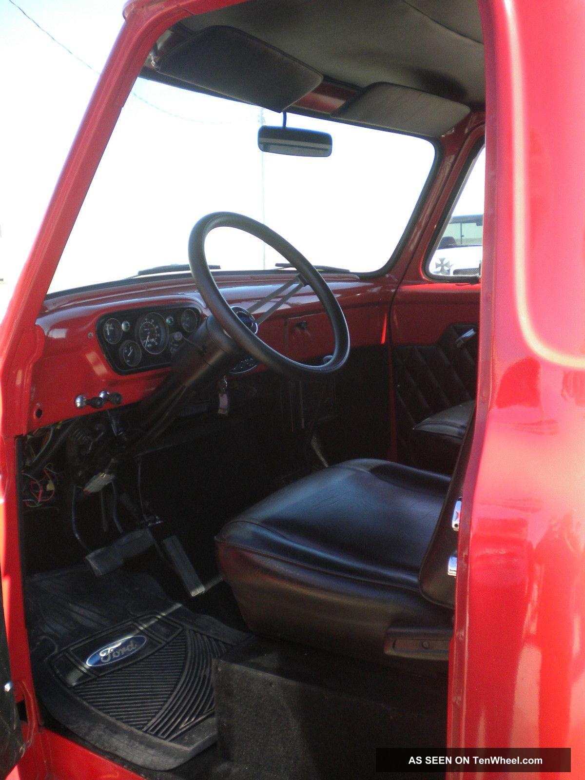 1955 Ford F100 4x4 Custom Truck Hot Rod Rat Lifted Pickup V Street Eight 400