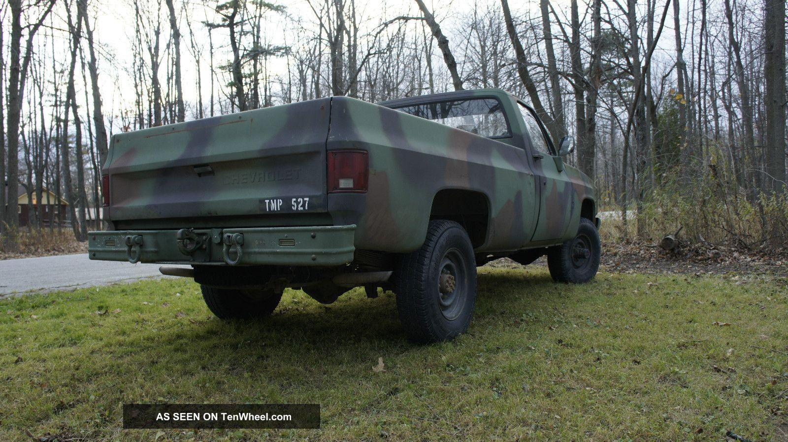 1986 Chevy M1008 Cucv K30 1 Ton Army Pick