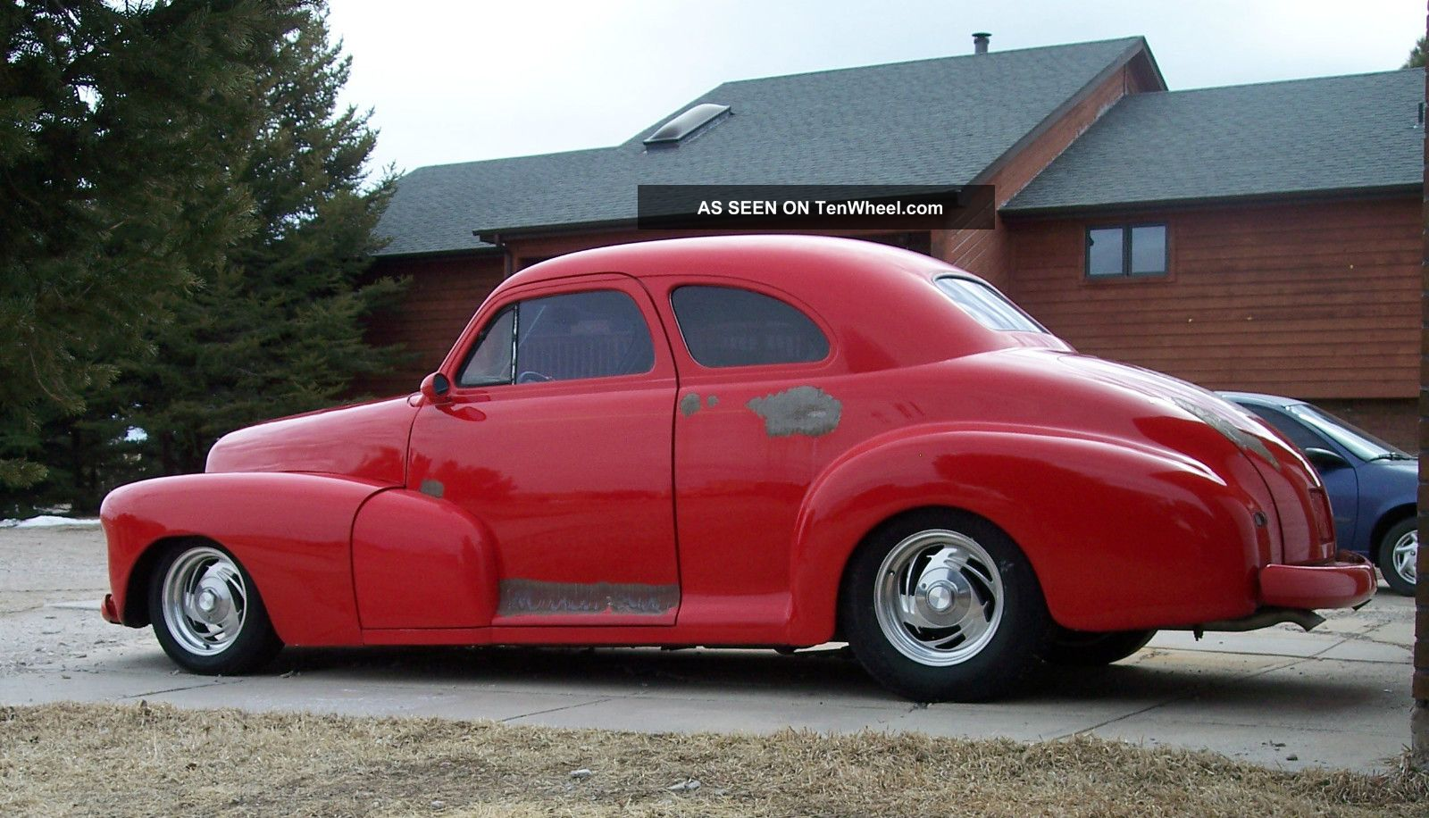 1948 chevy fleetmaster 2 door coupe street rod hot rod