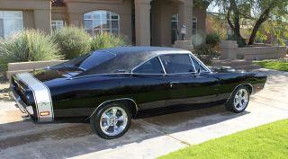 1969 Dodge Charger Rt Black Ac Vinyl Top photo