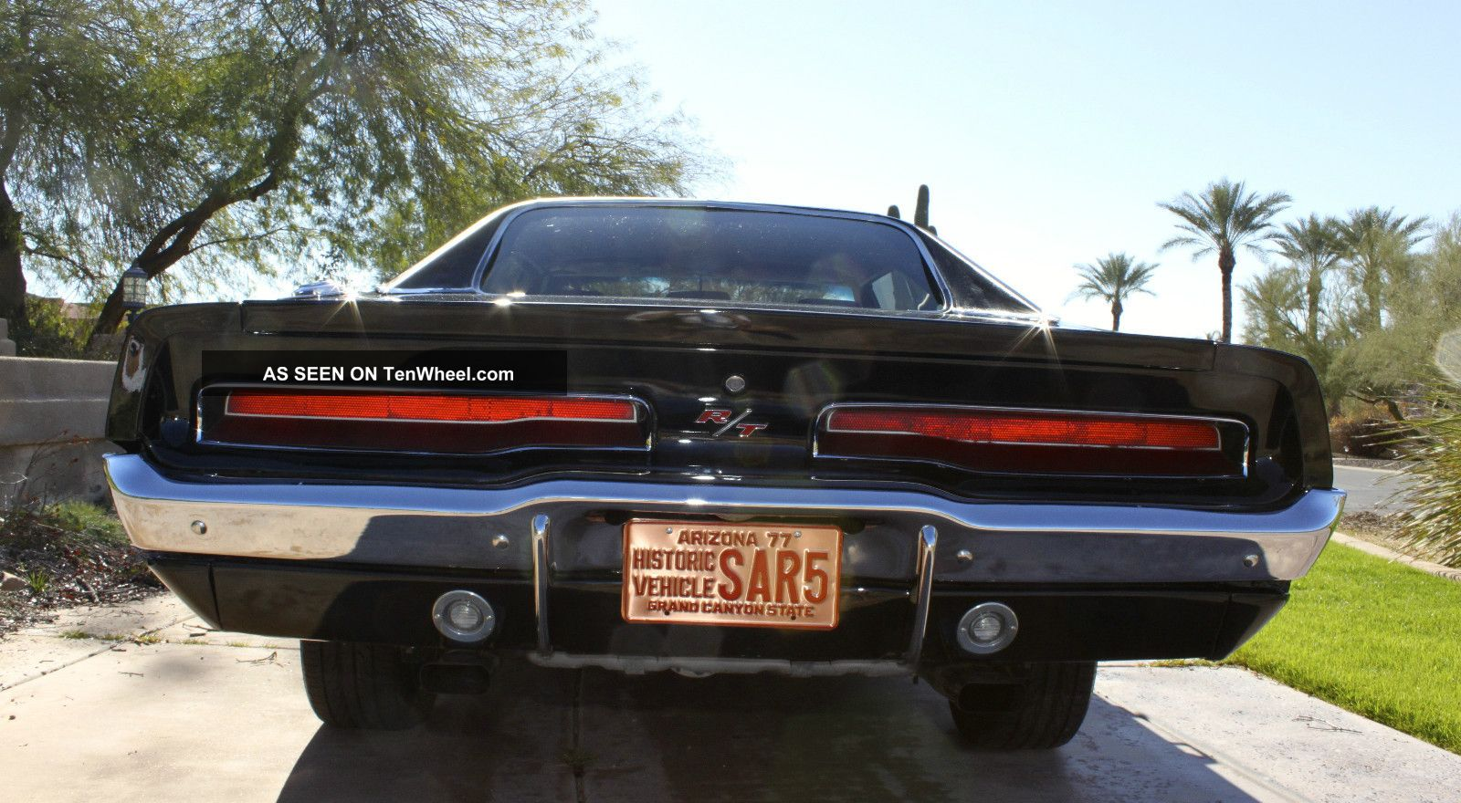 1969 Dodge Charger Rt Black Ac Vinyl Top