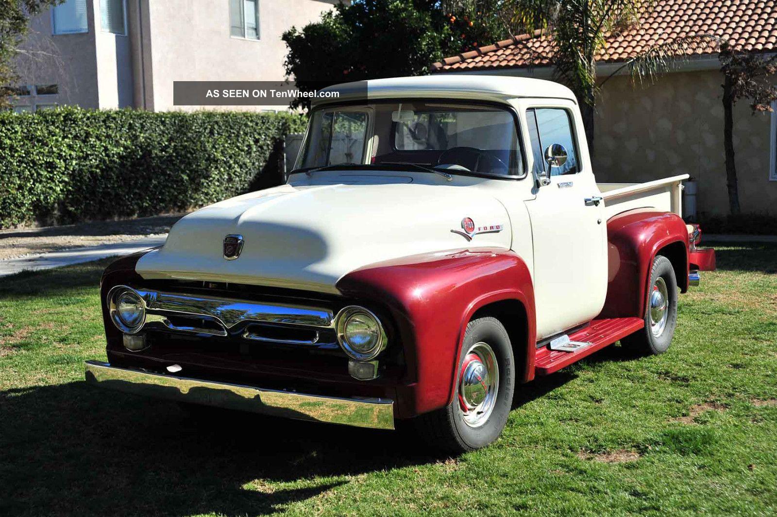 custom 1956 ford f100 pickup truck 302 c6 ps pb ac all steel. Black Bedroom Furniture Sets. Home Design Ideas