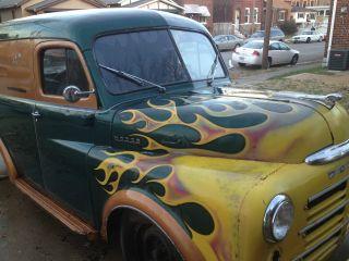 1950 Dodge Panel Sedan Delivery Rat Rod Hot Rod Truck Pilot House Project photo