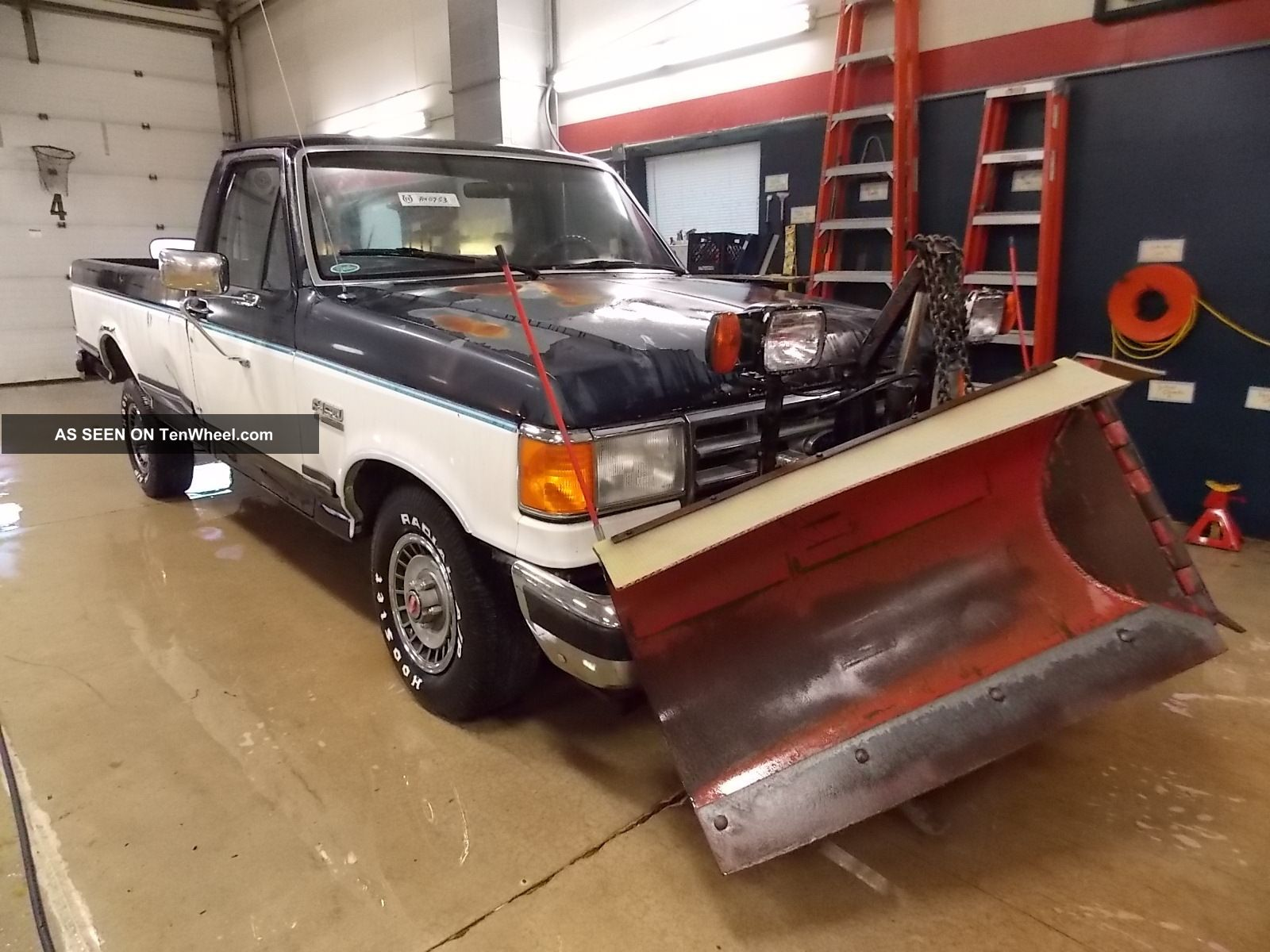 1988 Ford F150 Xl W / Snow Plow Ta40753 F-150 photo