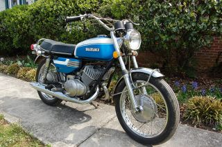 1972 Suzuki T350j Rebel 30 Yrs Storage Fresh T350 T500 Titan Rd350 photo
