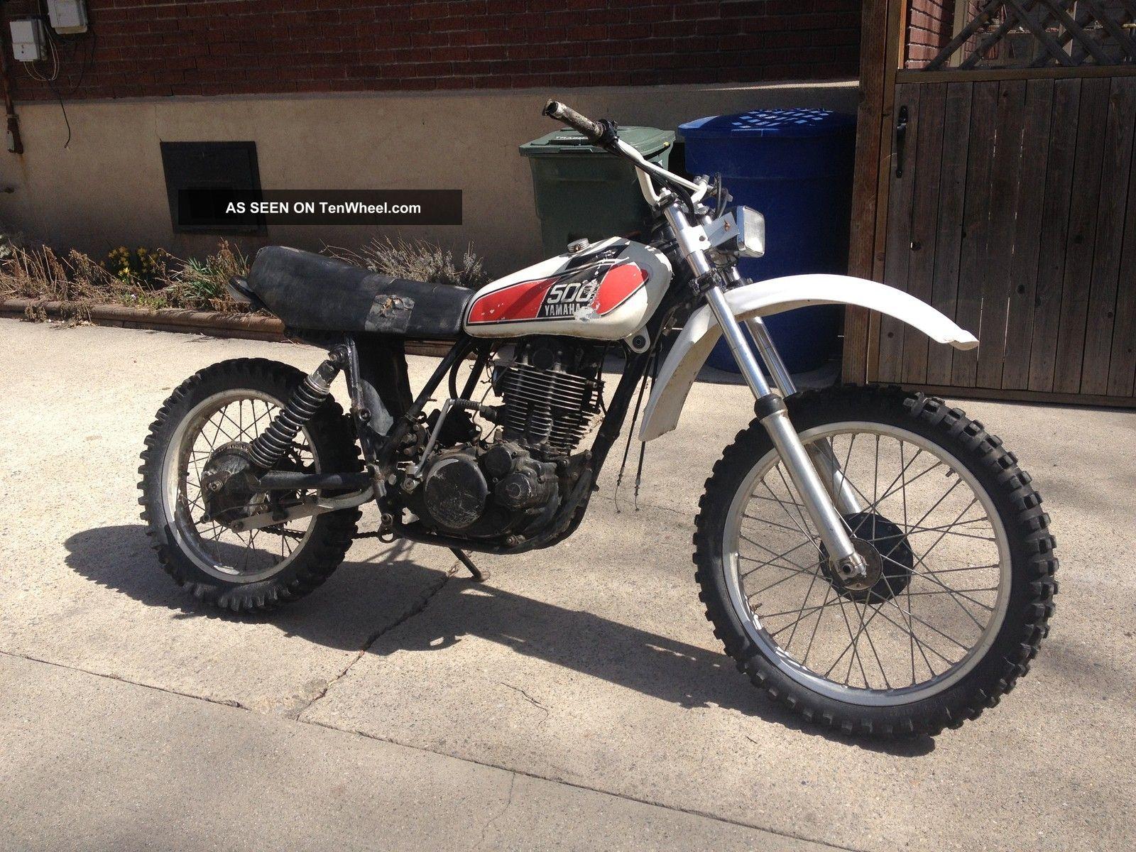 1976 yamaha xt500 tt500 xt tt 500 vintage ahrma dirt enduro motorcycle bike  ship